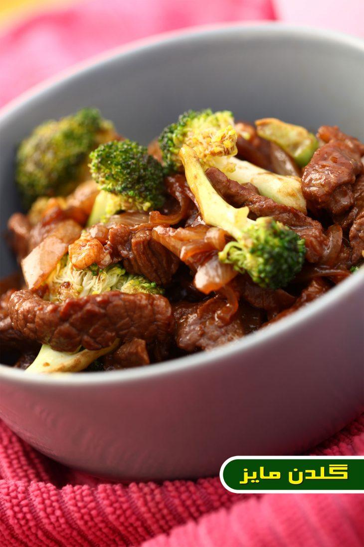 آموزش-طبخ-استیک-گوشت-و-بروکلی-ژاپنی