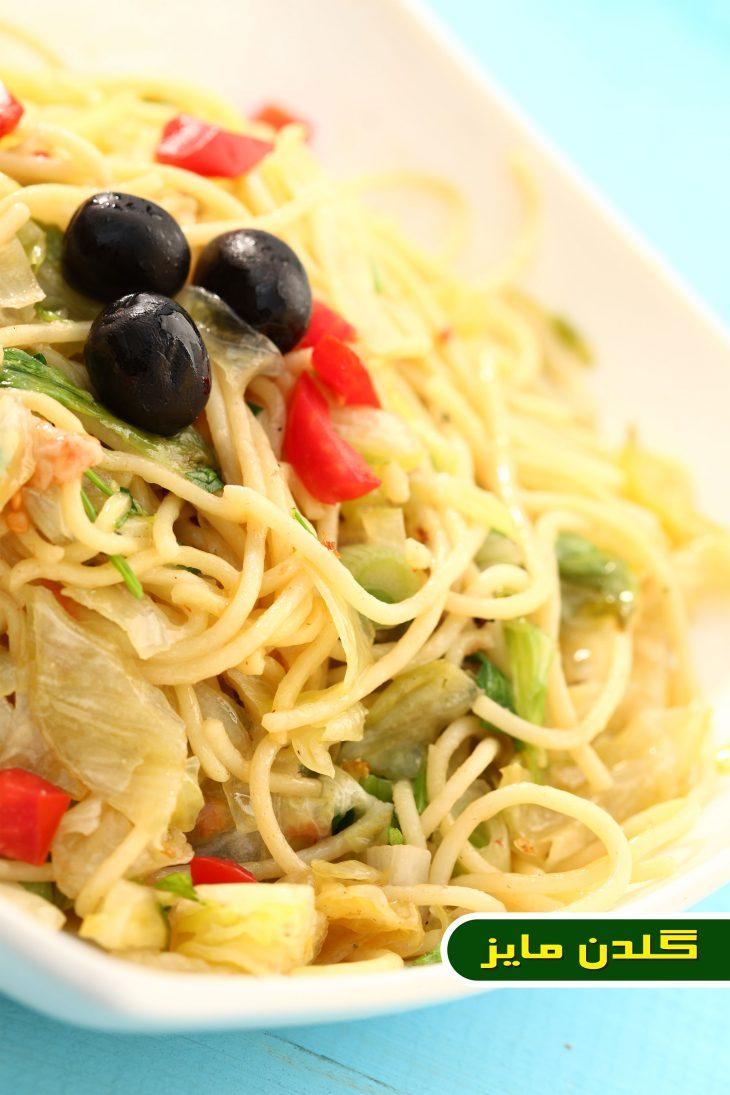 آموزش-طبخ-اسپاگتی-باغچه-ای
